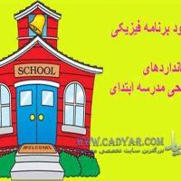 دانلود پاورپوینت برنامه فیزیکی و استانداردهای طراحی مدرسه ابتدای